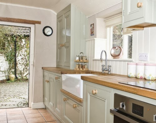 Farrow and Ball French Gray PAINTED KITCHEN