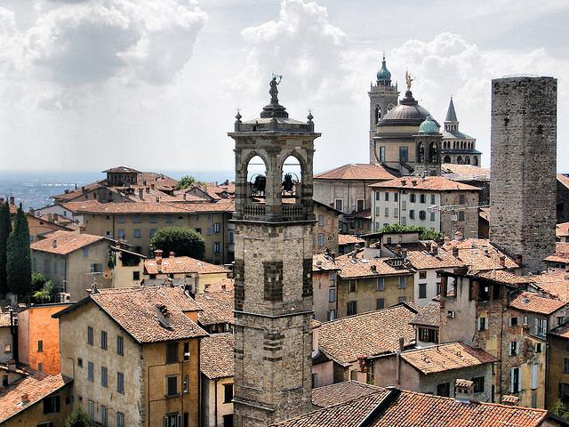Alta Citta of Bergamo in Lombardy, Italy