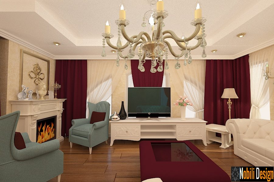 Design interior living casa candelabre stil clasic - Bucuresti