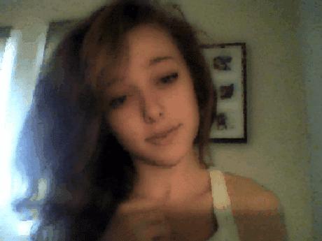 Cute teen cumming loud on webcam