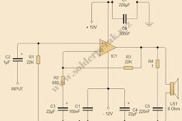 Skematik Rangkaian Power Amplifier TDA2030