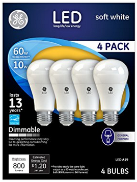 Ge Led Light Bulb Review Compare To Cfl Bulbs