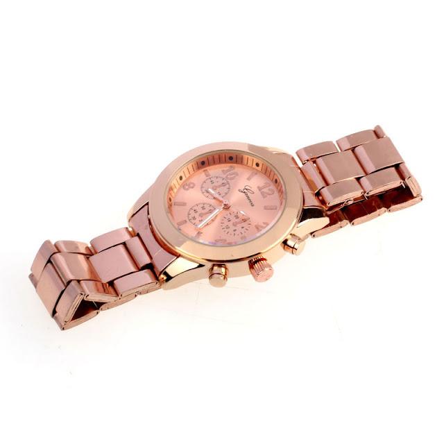 zegarek Geneva z różowego złota zdjęcie z aukcji Aliexpress