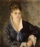 Woman in Black by Pierre-Auguste Renoir - Portrait Paintings from Hermitage Museum