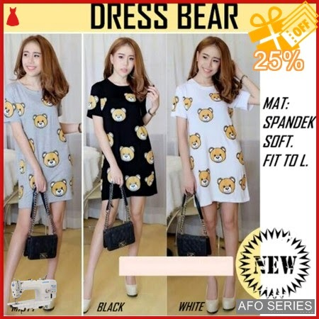 AFO367 Model Fashion Dress Bear Modis Murah BMGShop