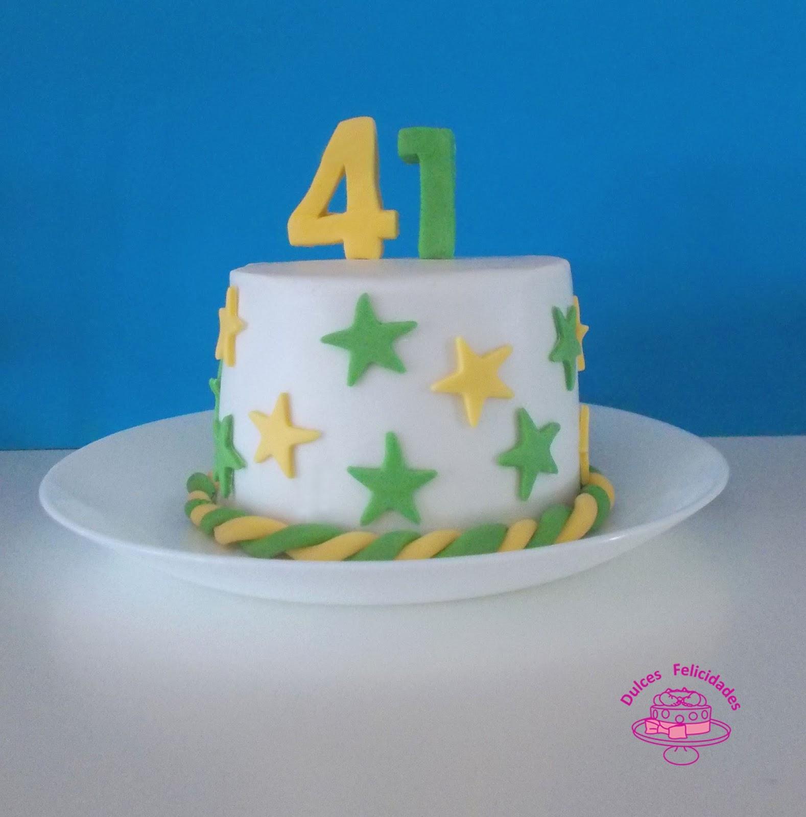 Dulces Felicidades Tarta 41 Cumpleanos - Tartas-cumpleaos
