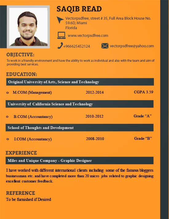 Free Creative Resume Template 14