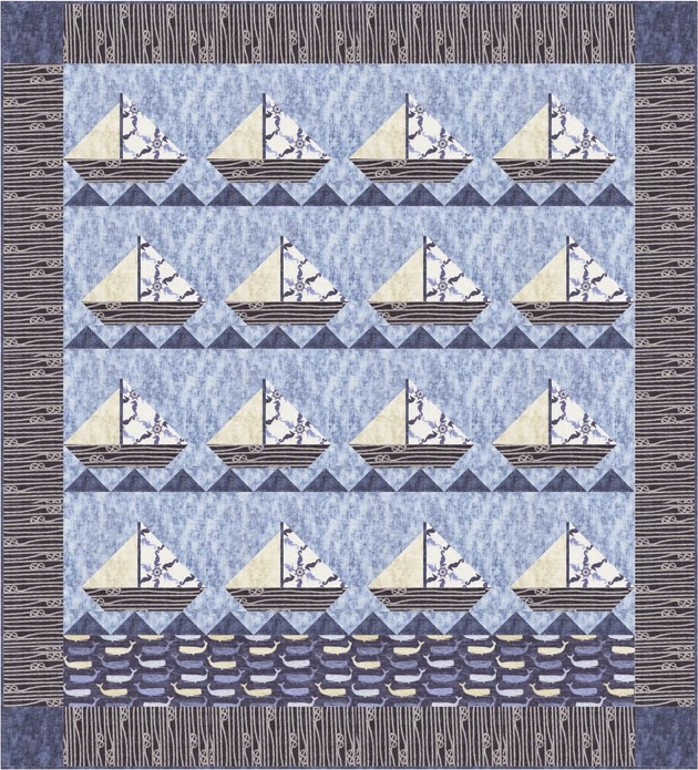 Quilt Inspiration: Free Pattern Day: Sailboats : sailing quilt - Adamdwight.com