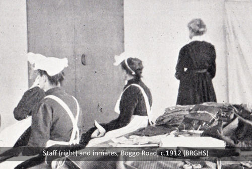 Staff and inmates at the Female Division in Brisbane's Boggo Road Gaol, c.1912