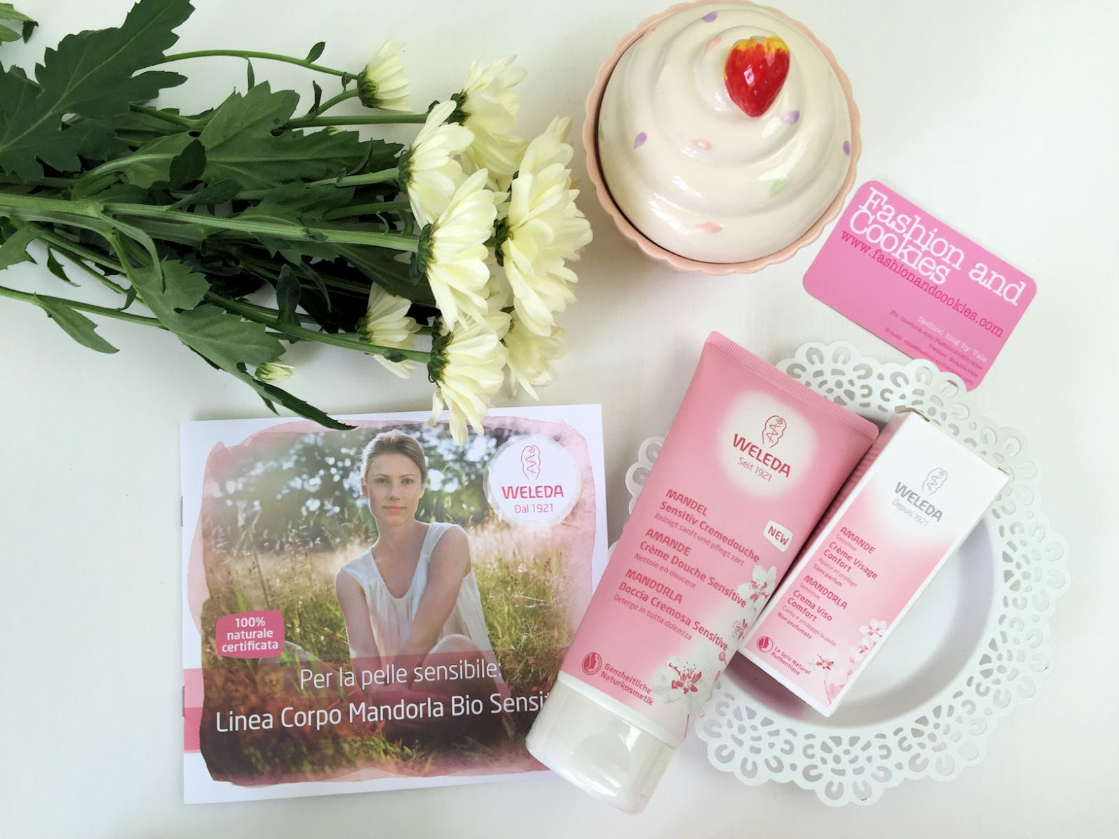 Weleda Creme Douche Sensitive and day cream with Almond Oil on Fashion and Cookies beauty blog, beauty blogger