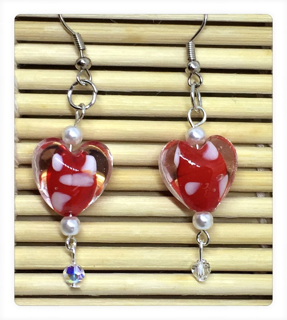 Keep Calm And Craft On Diy Valentine Heart Earrings Tutorial