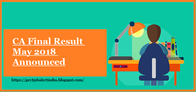 CA Final Result May 2018