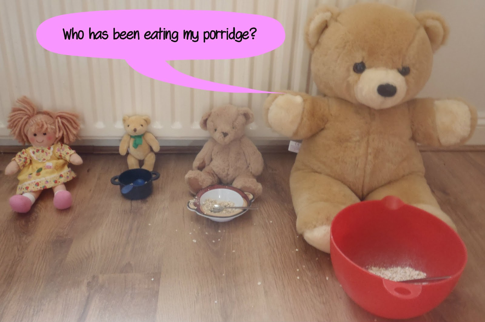 very messy mummy goldilocks and the three bears. Black Bedroom Furniture Sets. Home Design Ideas