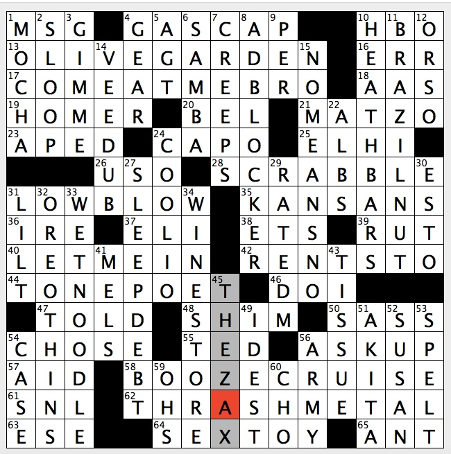 Rex Parker Does The Nyt Crossword Puzzle Composer Of Symphonic Verse Fri 11 2 18 Bear In Hit 2012 Film Genre For Anthrax Megadeth Spinoff Nabisco Cookies