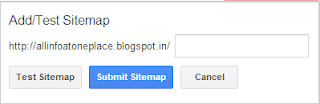 add a sitemap to your blogger