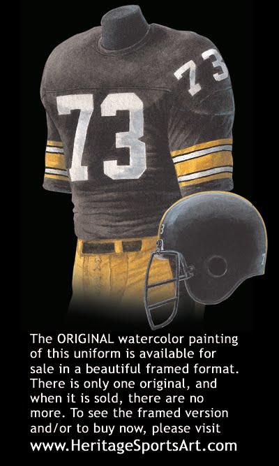 sports shoes 46d14 de5fb Pittsburgh Steelers Uniform and Team History | Heritage ...