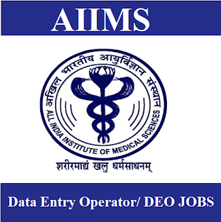 All India Institute of Medical Science, AIIMS Delhi, AIIMS, DEO, Data Entry Operator, New Delhi, Graduation, freejobalert, Sarkari Naukri, Latest Jobs, aiims delhi logo