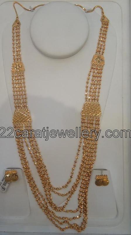Gold Chandra Haram Jewellery Designs