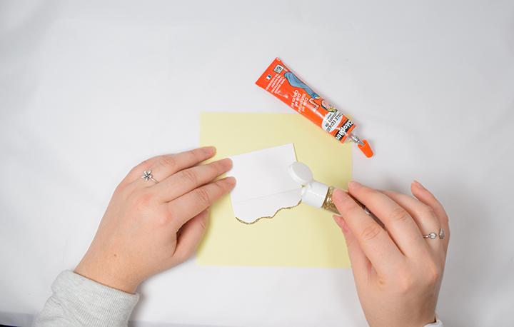 étape 2 diy facile marque places de noël en papier