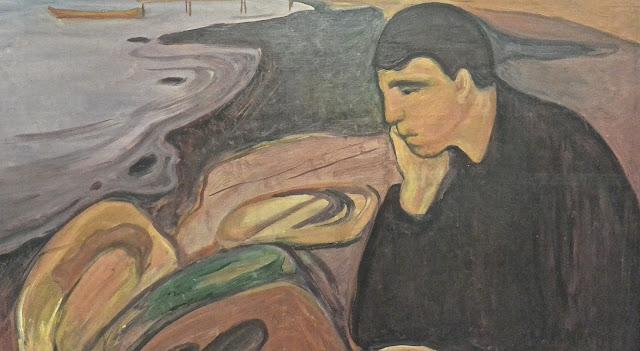 Musée des Beaux-arts de bergen Edvard Munch : Mélancolie  détail (1894_1896)
