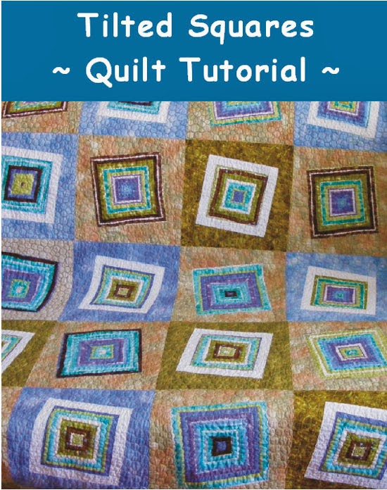 Tilted Squares Patchwork Quilt tutorial