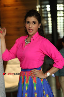 Actress Mannar Chopra in Pink Top and Blue Skirt at Rogue movie Interview  0037.JPG