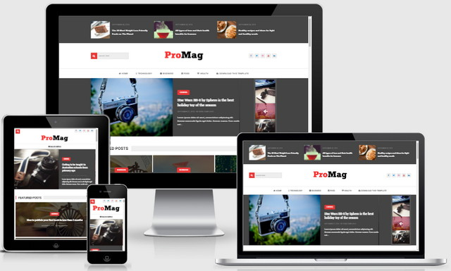 ProMag Responsive Blogger Templates