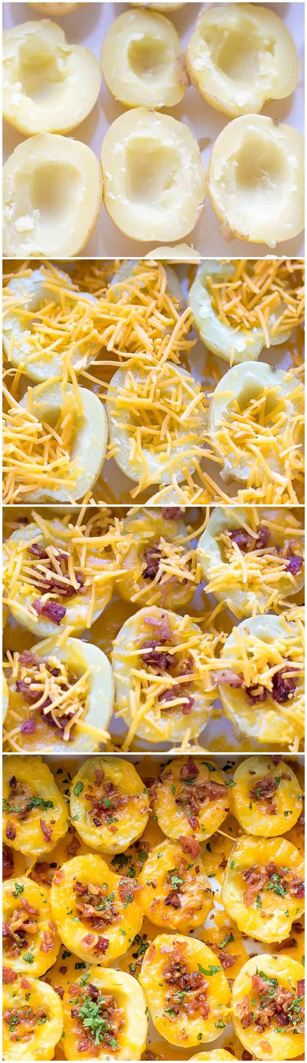Cheesy Crispy Baked Potato Bites