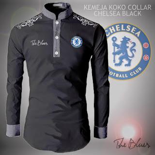 Jual Baju Koko Muslim Pria Bola Collar Chelsea Black