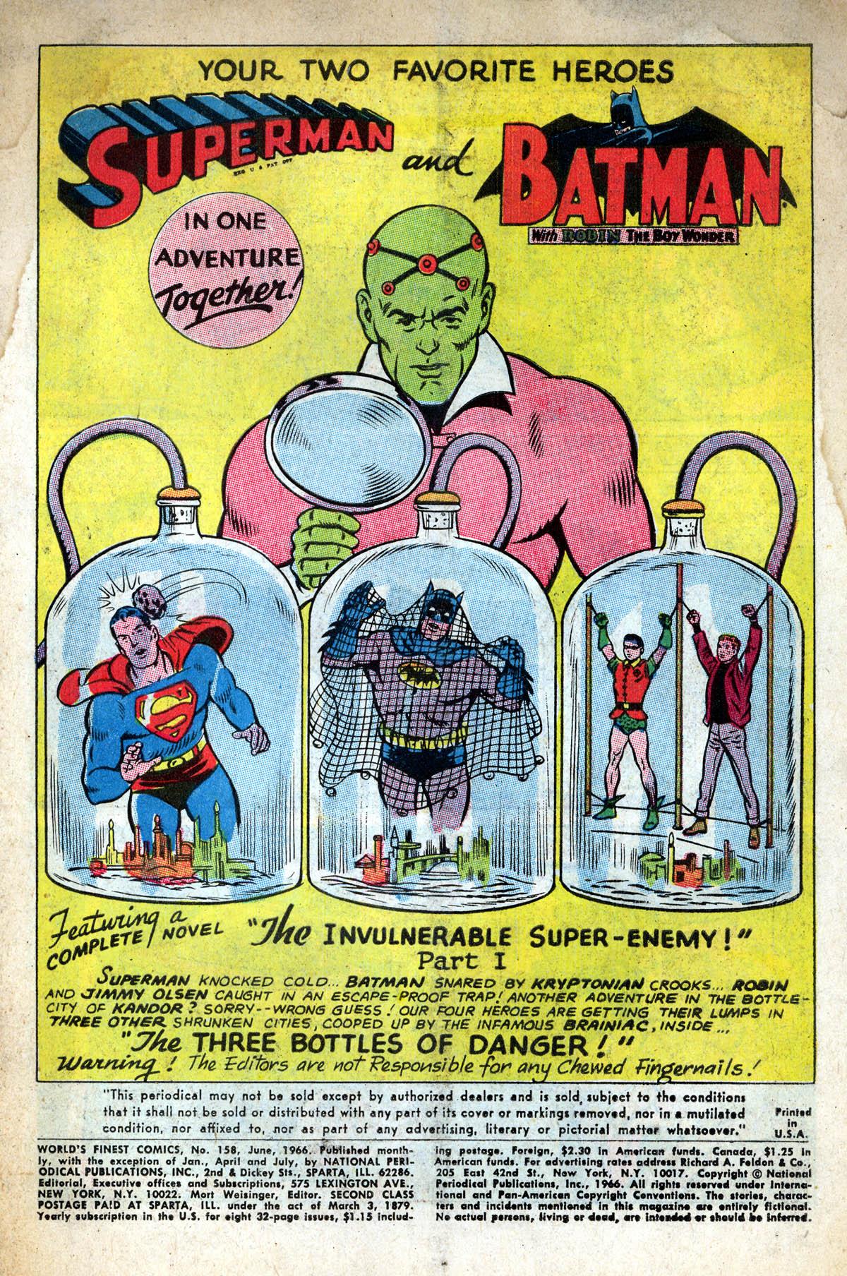 Read online World's Finest Comics comic -  Issue #158 - 3