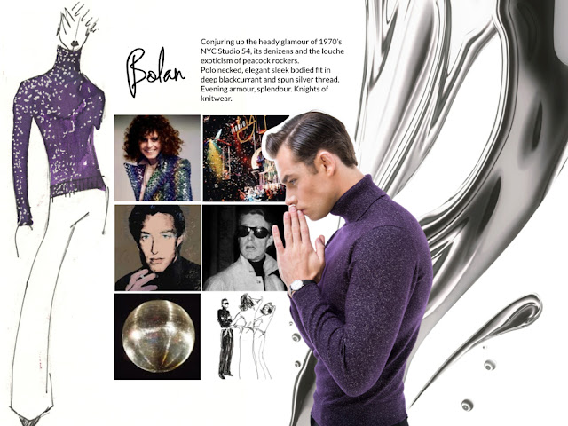 Men's fashion sweater, Marc Bolan, glam rock