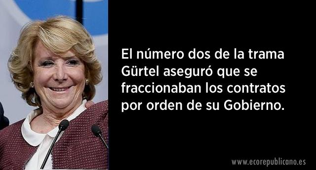 Gürtel no se olvida de Esperanza Aguirre