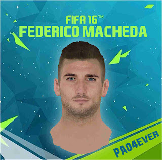 FIFA 16 Faces Federico Macheda by pao4ever