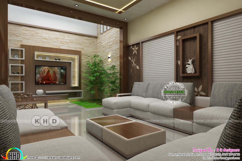 Kerala interiors designs - Living - Kerala home design and ...
