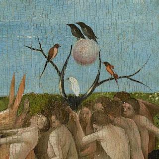 Jérôme Bosch : détail du Jardin des Délices, panneau central, musée du Prado, Madrid