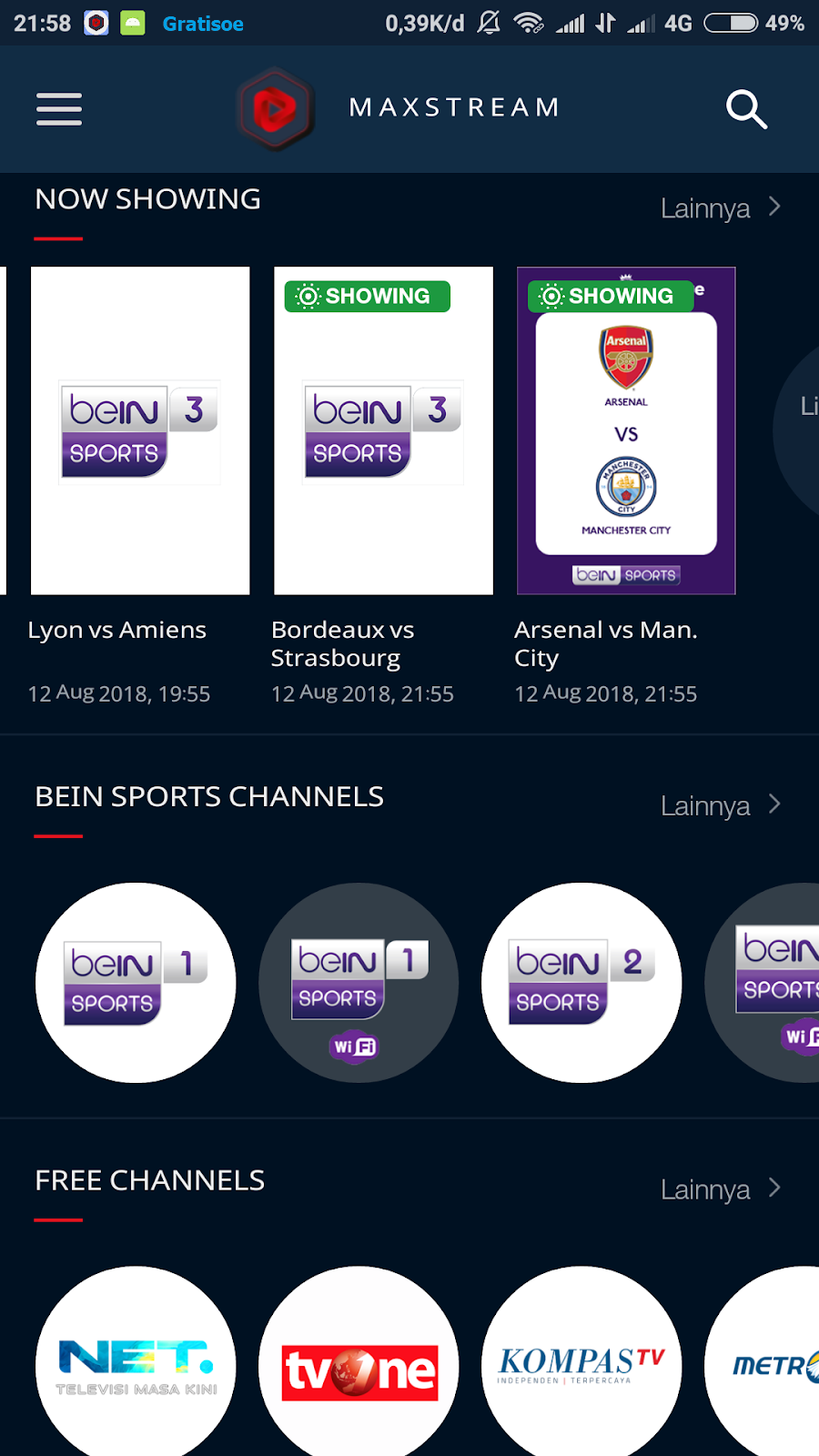 Aplikasi Maxstream Telkomsel Bisa Buat Nonton Streaming Bola Liga