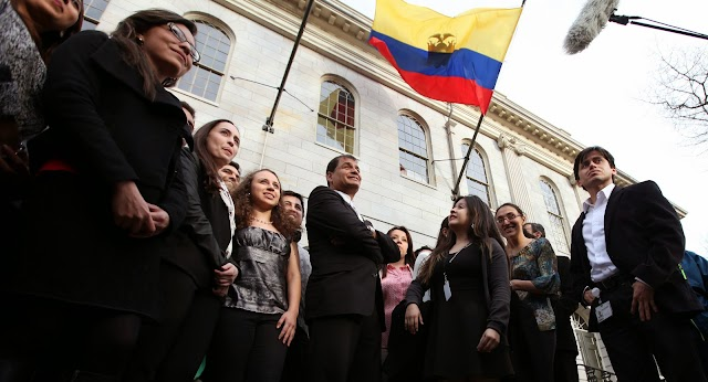President Rafael Correa Second Day of Visit to the U.S, He Will Speak at Harvard and Yale