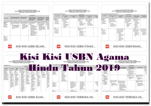 Kisi Kisi USBN Agama Hindu Tahun 2019