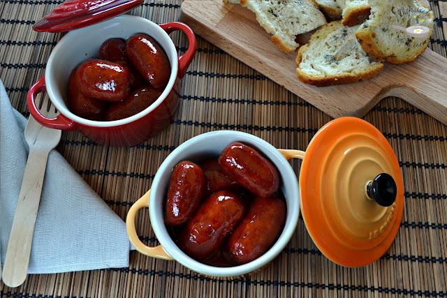 Chorizos o choricitos a la sidra