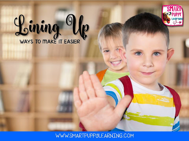 Procedures for lining students up in the classroom to aid in classroom management