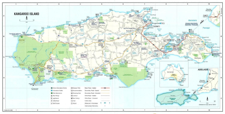 map of kangaroo island