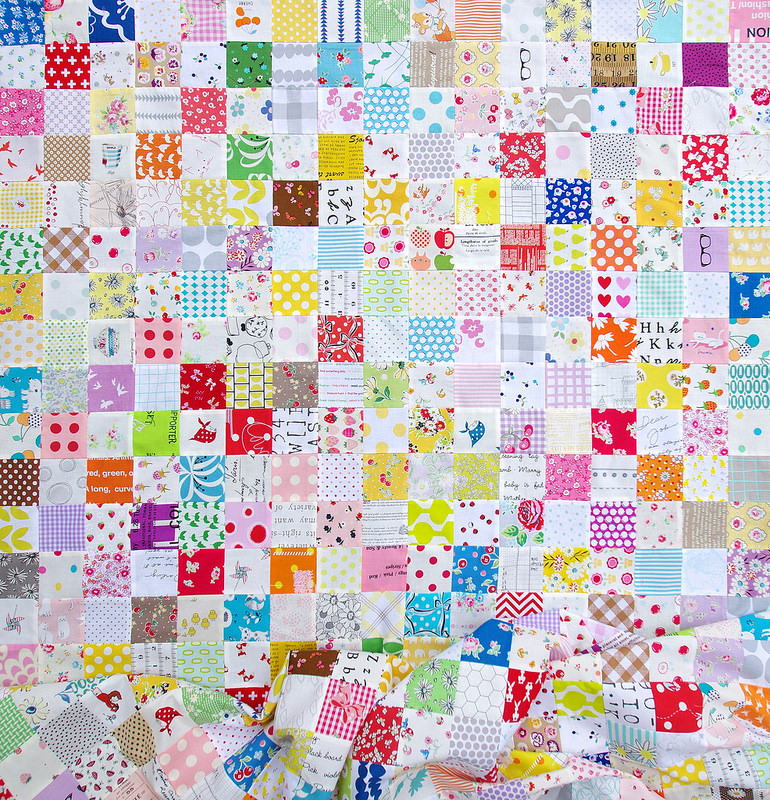 Stashbuster Checkerboard Quilt