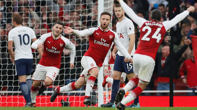 Arsenal fans furious with Shkodran Mustafi on Twitter as they fold early against Manchester United