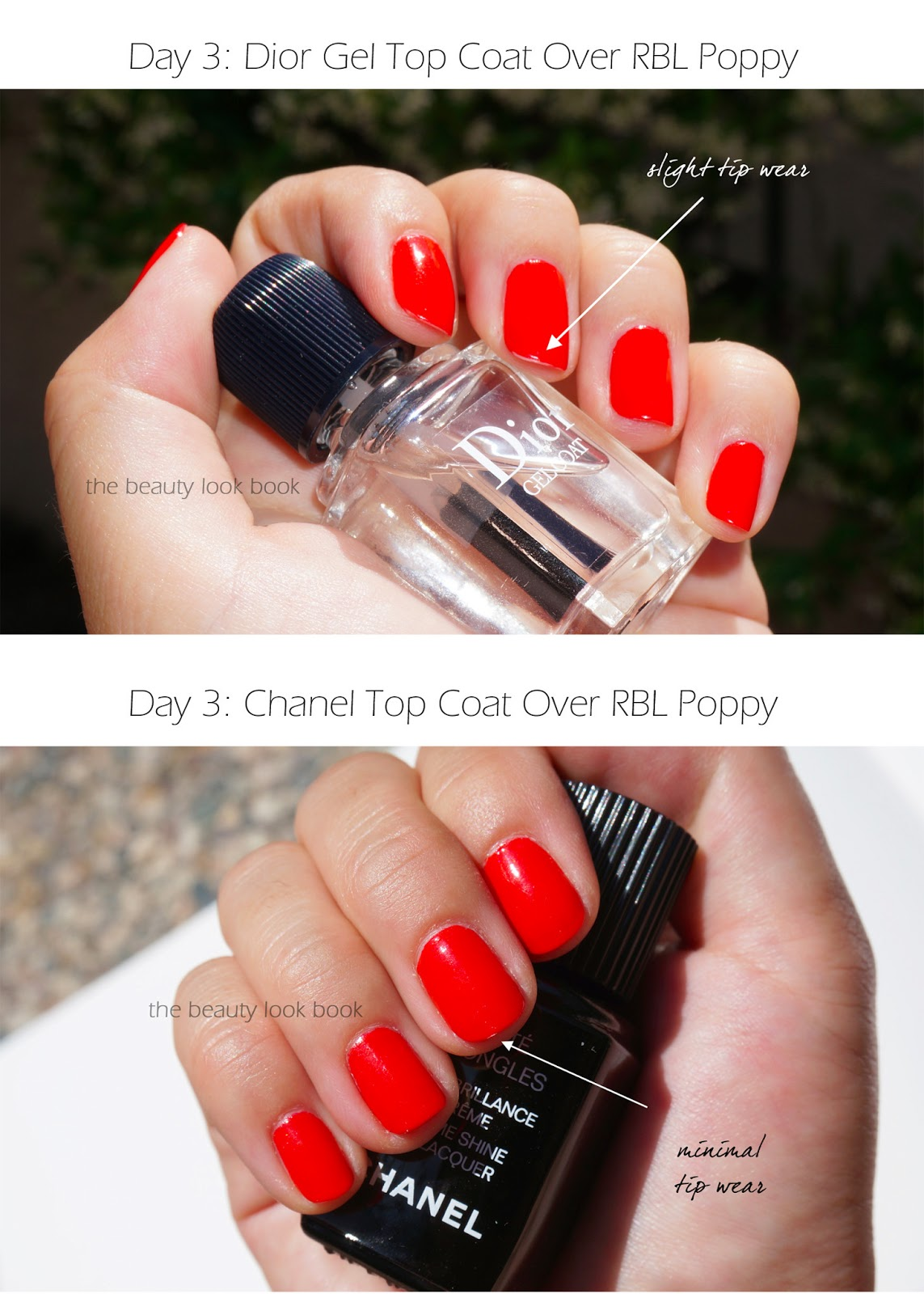 Top Coats Dior Gel Top Coat Vs Chanel Laque Brilliance Extreme The Beauty Look Book