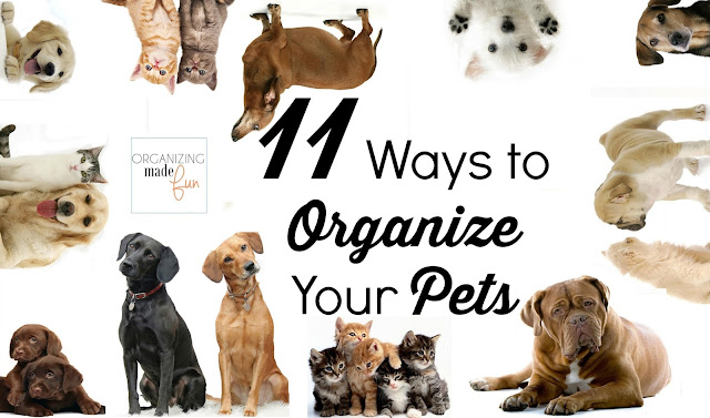11 Ways to Organize Your Pet :: OrganizingMadeFun.com