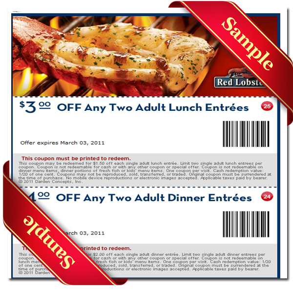 Red lobster discount coupons online