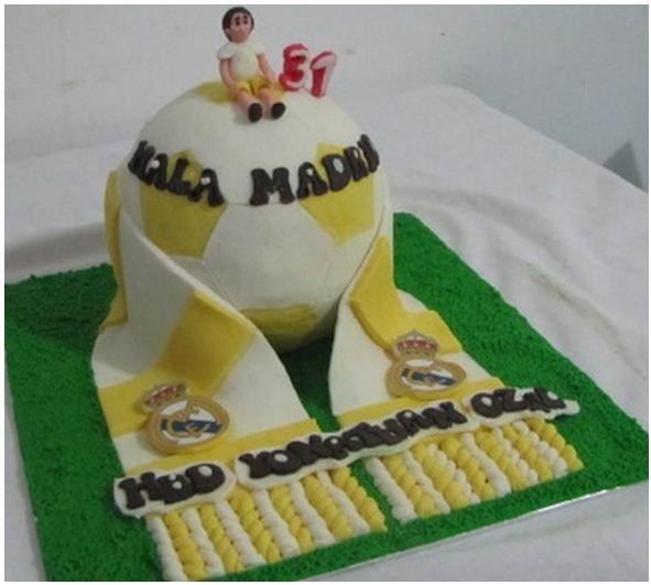 Foto Kue Ulang Tahun Real Madrid