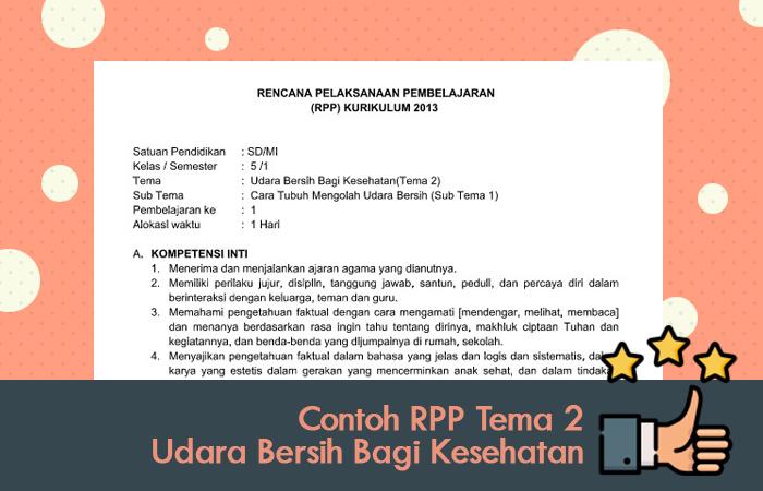 Contoh RPP Tema 2 Udara Bersih Bagi Kesehatan