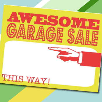 Culdesaccool printable garage sale sign
