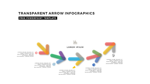 Transparent Arrow Design Elements for Free PowerPoint Template Slide 8